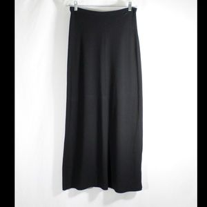 J Crew Long Black Pencil Skirt Maxi